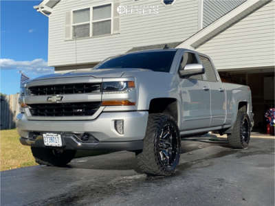"2016 Chevrolet Silverado 1500 - 20x10 -19mm - Hostile Alpha - Leveling Kit - 33"" x 12.5"""