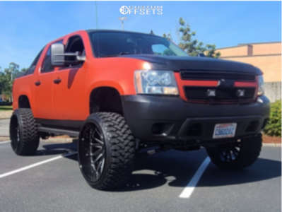 "2007 Chevrolet Avalanche - 26x14 -77mm - Tuff T2a - Suspension Lift 7.5"" - 35"" x 13.5"""