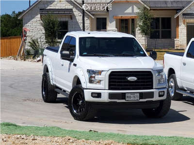 """2016 Ford F-150 - 20x10 -25mm - 2Crave NX12 - Suspension Lift 3.5"""" - 33"""" x 12.5"""""""