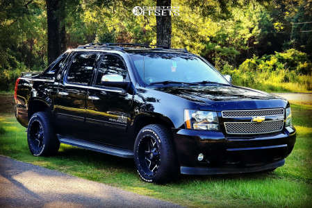 2013 Chevrolet Avalanche - 20x10 -18mm - Luxxx HD Lhd2 - Stock Suspension - 275/55R20