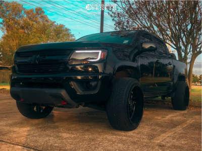 2017 Chevrolet Colorado - 22x12 -44mm - RBP 69r - Leveling Kit - 265/40R22