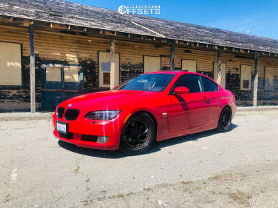 2009 BMW 328i xDrive - 18x9.5 35mm - Aodhan Ds01 - Coilovers - 235/45R18