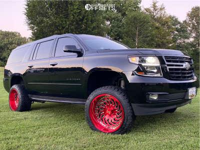 "2020 Chevrolet Suburban - 22x12 -51mm - ARKON OFF-ROAD Crown Series Victory - Suspension Lift 6"" - 33"" x 12.5"""
