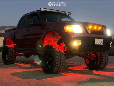 "2001 Ford Explorer Sport Trac - 20x12 -44mm - Moto Metal Mo962 - Suspension Lift 6"" & Body 3"" - 33"" x 12.5"""