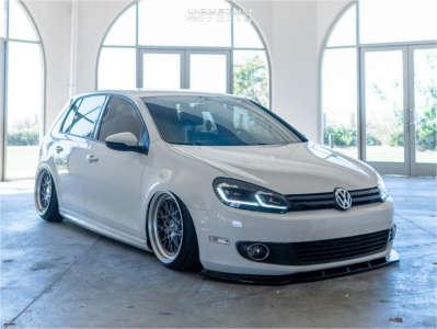 2012 Volkswagen Golf - 18x9.5 35mm - ESR Cs3 - Air Suspension - 205/40R18
