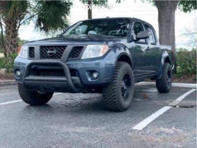 "2014 Nissan Frontier - 17x9 -14mm - Fuel Hostage D531 - Suspension Lift 3"" - 33"" x 12.5"""