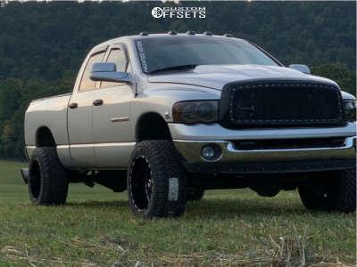 "2005 Dodge Ram 2500 - 20x12 -44mm - TIS 544bm - Level 2"" Drop Rear - 33"" x 12.5"""