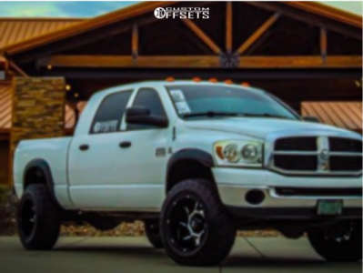 "2008 Dodge Ram 2500 - 20x12 -51mm - Vision Prowler - Suspension Lift 2.5"" - 35"" x 12.5"""