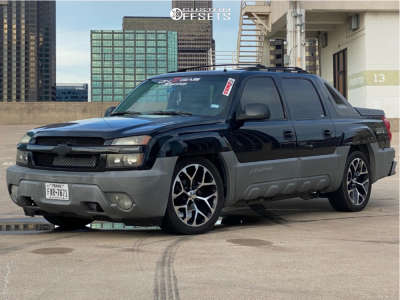 """2002 Chevrolet Avalanche - 22x10 0mm - GM Replicas - Lowered 3F / 5R - 31"""" x 12.5"""""""