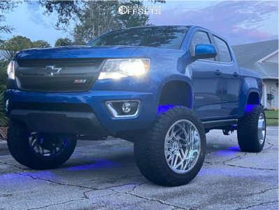 "2020 Chevrolet Colorado - 20x12 -55mm - Hostile Jigsaw - Suspension Lift 7"" - 33"" x 12.5"""