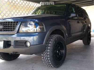 "2003 Ford Explorer - 17x8 -6mm - Pro Comp Series 97 - Suspension Lift 3"" - 265/70R17"