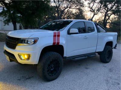 "2018 Chevrolet Colorado - 18x9 -0mm - Helo He880 - Suspension Lift 5.5"" - 275/70R18"