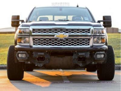 2015 Chevrolet C1500 - 20x12 -44mm - Hardrock Crusher - Leveling Kit - 305/50R20