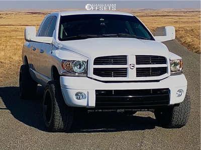 "2007 Dodge Ram 3500 - 20x12 -44mm - Hostile Fury - Level 2"" Drop Rear - 295/55R20"