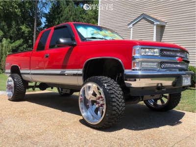 "1998 Chevrolet K1500 - 24x14 -76mm - Black Rhino Blaster - Suspension Lift 6"" - 33"" x 12.5"""