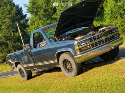 """1988 Chevrolet C2500 - 17x9 25.4mm - Gear Off-Road Overdrive - Stock Suspension - 33"""" x 10.5"""""""