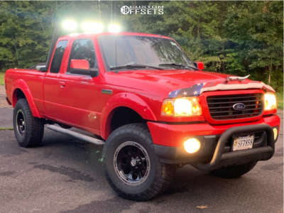 """2008 Ford Ranger - 17x9 0mm - Ion Alloy 174 - Suspension Lift 5"""" - 33"""" x 12.5"""""""