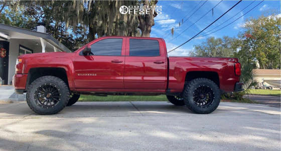 "2018 Chevrolet Silverado - 20x10 -24mm - Wicked Offroad W908 - Leveling Kit - 35"" x 12.5"""