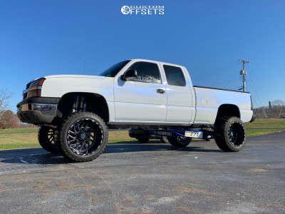 """2004 Chevrolet Silverado 1500 HD - 22x14 -76mm - TIS 544bm - Suspension Lift 8"""" - 35"""" x 12.5"""""""