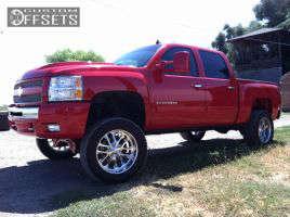"2011 Chevrolet Silverado 1500 - 20x10 12.7mm - Budnik Trig - Suspension Lift 6"" - 305/55R20"