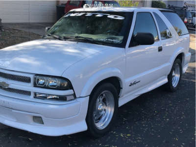 "2002 Chevrolet Blazer - 17x10 -12mm - Billet Specialties Vintage - Stock Suspension - 25"" x 10.5"""