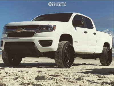 2020 Chevrolet Colorado - 22x12 -44mm - TIS 544bm - Leveling Kit - 265/35R22