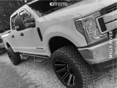 "2017 Ford E-250 Super Duty - 22x12 -44mm - Fuel Contra - Suspension Lift 3"" - 35"" x 12.5"""