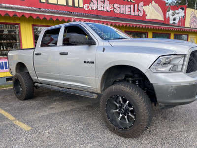 "2010 Dodge Ram 1500 - 20x12 -44mm - Moto Metal Mo970 - Suspension Lift 7.5"" - 35"" x 12.5"""