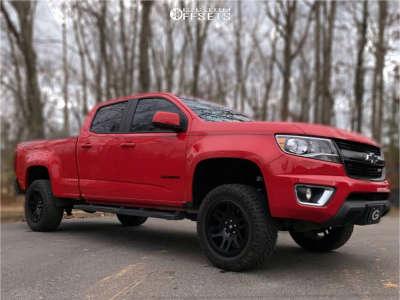 "2015 Chevrolet Colorado - 18x9 7mm - Fuel Recoil - Suspension Lift 3.5"" - 265/60R18"
