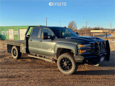2017 Chevrolet Silverado 3500 HD - 20x9 0mm - Mayhem Warrior - Stock Suspension - 275/60R20