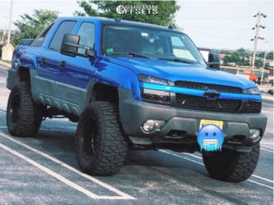 "2005 Chevrolet Avalanche 1500 - 20x12 -51mm - ARKON OFF-ROAD Caesar - Suspension Lift 6"" - 375/45R20"