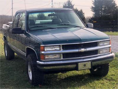"1998 Chevrolet K1500 - 16x8 -12.7mm - Pro Comp 69 - Stock Suspension - 31"" x 10.5"""