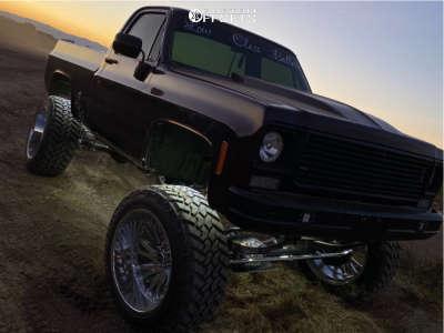 "1975 Chevrolet K5 Blazer - 24x14 -72mm - Tuff T2a - Suspension Lift 8"" - 38"" x 13.5"""