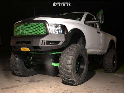 "2017 Ram 1500 - 20x12 -44mm - Moto Metal Mo977 - Lifted >12"" - 395/85R20"