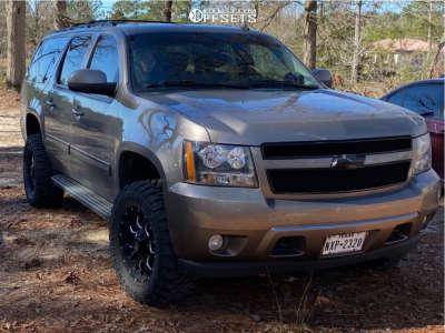 "2012 Chevrolet Suburban 1500 - 18x9 -12mm - Mayhem Warrior - Suspension Lift 3.5"" - 33"" x 12.5"""