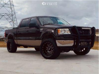 "2006 Ford F-150 - 20x10 -18mm - Fuel Vandal - Suspension Lift 4"" - 305/55R20"