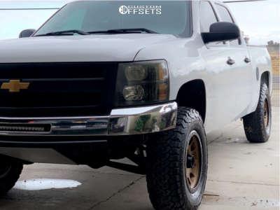"2012 Chevrolet Silverado 1500 - 17x8 12mm - Method Nv - Stock Suspension - 33"" x 12.5"""