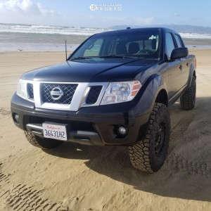 "2018 Nissan Frontier - 16x8 0mm - Dx4 Rebel - Suspension Lift 3"" - 285/75R16"