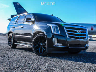 "2016 Cadillac Escalade - 24x10 25mm - OE Replicas Flakes - Lowered 2F / 4R - 29"" x 10.5"""