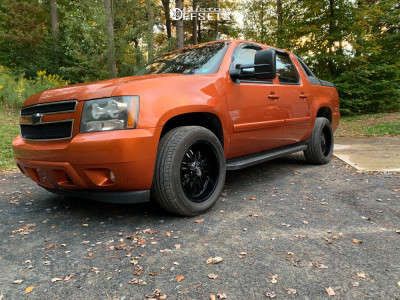2008 Chevrolet Avalanche 1500 - 20x9 -12mm - Panther Offroad 580 - Stock Suspension - 275/55R20