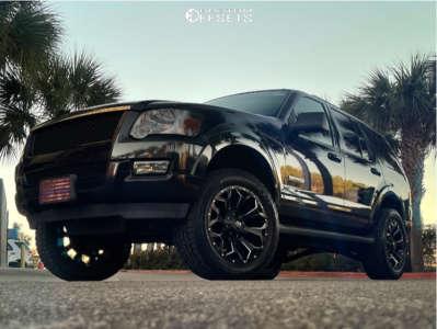 "2008 Ford Explorer - 20x9 0mm - Fuel Assault - Suspension Lift 3"" - 275/55R20"