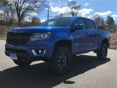"2020 Chevrolet Colorado - 18x9 18mm - Moto Metal MO970 - Suspension Lift 3.5"" - 275/65R18"
