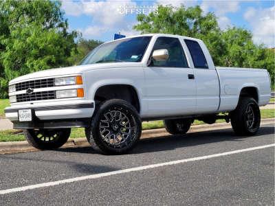 "1990 Chevrolet C1500 - 20x10 -25mm - Xtreme Force XF10 - Suspension Lift 4"" - 265/50R20"
