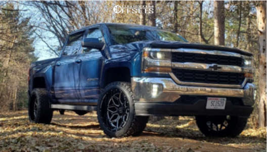 "2018 Chevrolet Silverado - 22x12 -51mm - Xtreme Force XF12 - Suspension Lift 3"" - 33"" x 12.5"""