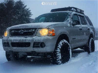 "2004 Ford Explorer - 17x9 -12mm - Black Rock Type 8 - Suspension Lift 2.5"" - 265/70R17"