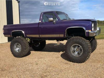 "1981 Chevrolet K30 - 20x12 -44mm - Rev Offroad 811 - Lifted >12"" - 44"" x 19.5"""