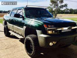 "2002 Chevrolet Avalanche - 20x12 -44mm - Scorpion SC10 - Leveling Kit & Body Lift - 33"" x 12.5"""