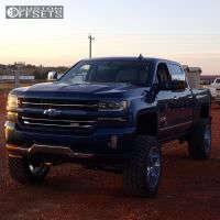 """2016 Chevrolet Silverado 1500 - 22x12 -44mm - Gear Off-Road Big Block - Suspension Lift 9"""" - 325/50R22"""
