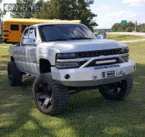 "2001 Chevrolet Silverado 1500 - 24x12 -44mm - Xd Xd775 - Suspension Lift 6"" & Body 3"" - 38"" x 13.5"""