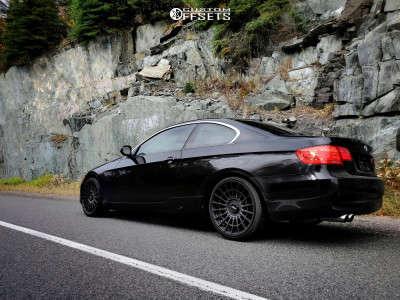 2011 BMW 328i xDrive - 19x8.5 30mm - Rotiform Las-r - Stock Suspension - 215/30R19